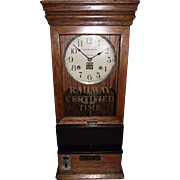 """Boston & Maine Railroad"" Workers Time Clock with ""Seth Thomas # 60 Movement"" Circa 1912 to 1920 !!!"