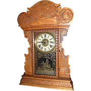 "Rare ""U.S.S. Maine"" Shelf Clock with 8 Day Time, Strike & Alarm, made by the E.N. Welch Co. Circa 1899 !"