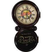 "Fabulous ""Pepsi Cola"" Advertising Clock in an Ingraham ""Ionic"" Model Rosewood Case !!!"