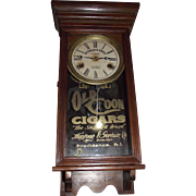 "Small Size Clock Advertising ""Old Coon Cigars"" on Dial & Glass Tablet !!!  Circa 1915-1947."