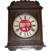 """Iron City Beer"" Advertising Clock from Pittsburgh,Pa. Brewery Circa 1910 !!!"