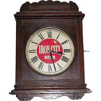 """""""Iron City Beer"""" Advertising Clock from Pittsburgh,Pa. Brewery Circa 1910 !!!"""