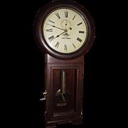 "Early ""Baltimore & Ohio Railroad"" Seth Thomas #2 Regulator Clock  in a Very Fine Mahogany Case with a 3 Piece Bottom Circa 1917 !!!"
