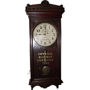 "Rare Marked ""Pennsylvania Railroad"" Clock in a Seth Thomas Model No. 30 Case !!!"