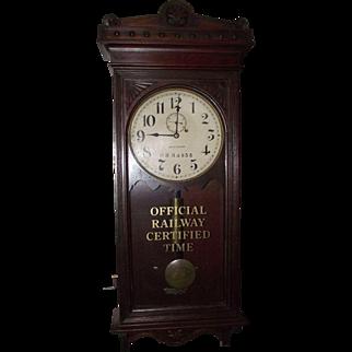"Rare Marked ""Pennsylvania Railroad"" Clock in a Seth Thomas Model No. 30 Case !!!"