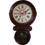 "Coca-Cola Advertiser Clock from Marion,SC. Bottling Works made by the ""New Haven Clock Co.""  !!!"