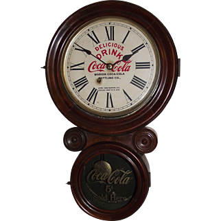 """Coca-Cola Advertiser Clock from Marion,SC. Bottling Works made by the """"New Haven Clock Co.""""  !!!"""