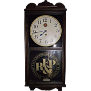 "Clock ""Richmond, Fredericksburg, and Potomac Railroad"" marked Regulator !!! Circa 1915."