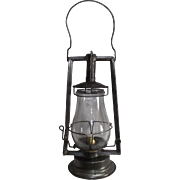 "HAM ""Clipper"" Hand Lantern with Original Marked Globe !"