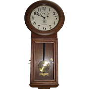 "Authentic ""Pittsburgh & Lake Erie Railroad Co."" Seth Thomas #2 Regulator Clock in Museum Quality Golden Oak Case Circa 1925 !!!"