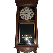 """Wild Root Hair Tonic""  RARE Advertising Clock from ""The Palace Barber Shop * Durham,NC."" circa 1932 to 1945 !!!"