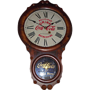"""Kansas City * Coca Cola Bottling Co.""  Advertising Clock in a Rare Seth Thomas Office No. 1 Rosewood Case Circa 1924 !!!"