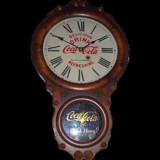 """""""Kansas City * Coca Cola Bottling Co.""""  Advertising Clock in a Rare Seth Thomas Office No. 1 Rosewood Case Circa 1924 !!!"""