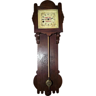 """Rarest of the """"Reed's Gold Gilt Tonic"""" Advertising Wall Clocks Circa 1870's  !!!"""