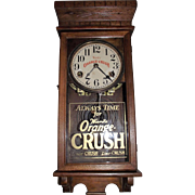 "Very Rare Salesman Sample Size Clock Advertising ""Ward's Orange Crush"" Soda on the Dial & Glass Tablet. (Circa 1916-1950)"