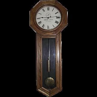 "Large Authentic ""Pennsylvania Railroad"" Seth Thomas #18 Long Drop Regulator in a Museum Quality Oak Case Circa 1900 !!!"