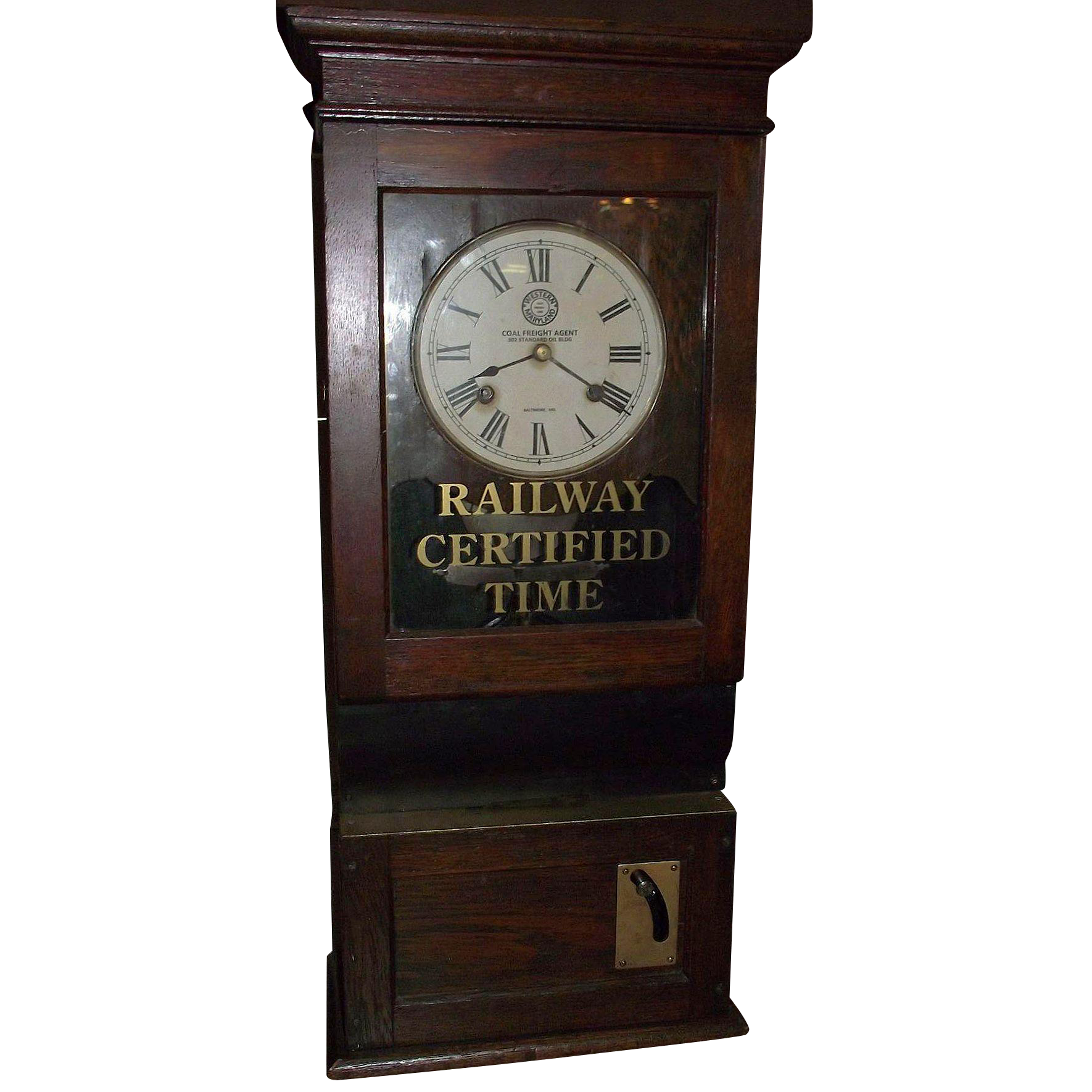 """""""Western Maryland Railroad"""" Employee Time Punch Clock Circa 1910 to 1919 !!!"""