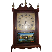 "Rare ""Samuel Terry"" Pillar & Scroll Clock with Original Full Paper Label Only made from 1824  to 1827 !!!"