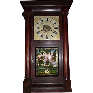 "Rare ""S.B. Terry with Exposed Round Movement"" Shelf Clock Circa 1850's in a Fabulous Rosewood Case !!!"