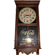 "Authentic Combination ""Coca-Cola & Woolworth's"" Store Regulator Circa 1920 !!!"