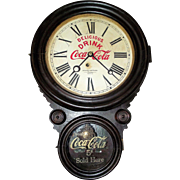 "Rare Coca-Cola ""Atlantic Bottling Company"" Advertising Figure 8 Clock from the Atlantic,Iowa Plant circa 1929  !!!"