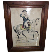 "Hand Colored ""Gen. George Washington * The Father of His Country "" EARLY 1838 to 1856 ""Lith. & Pub. by N. Currier at 2 Spruce St. NY.  # 60 !!!"