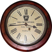"Impressive ""Pennsylvania Railroad * Reading,Pa."" Dial, on a Seth Thomas Gallery Clock Dated 1907 on reverse !!!"