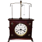 "Great Novelty Clock with ""Flying Ball"" Movement patented by Jerome & Co. on Oct.9,1883 then Reproduced in the 1970's."