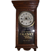 "Rare Salesman Sample Size Advertiser Clock for ""Calumet Baking Powder"" marked on the Dial & Glass Tablet !!! Circa 1915-1940."