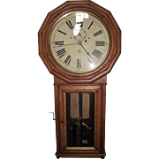 "Rare ""Baltimore & Ohio Railroad Clock"" in a Seth Thomas # 3 Regulator with Flat Bottom Oak Case !!! Circa 1884 to 1890."