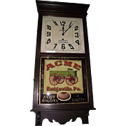 "Rare ""ACME Wagons"" Advertising Store Regulator in a Dark Walnut Stained Case made by The Sessions Clock Co. Circa 1925 !"