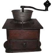 """Rare Signed by an unknown maker """"S. Brinton"""" Coffee Mill / Grinder Circa 1850 !!!"""