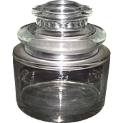 "Double Thick EAPG Squat Shaped ""Scientific / Medical Jar"" with Molded Lid Ca. 1900."