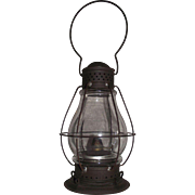 "Rare  Pre Civil War Lantern Patented 1858 by  ""J. Fleming"" embossed on bottom of fount, with a marked Holmes,Booth, and Hayden Chimneyless Burner dated 1860's !!!"
