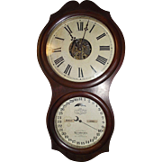 Ithaca Office Calendar No. 4 Model Clock with 30 Day Nickel Plated Movement Circa 1880 !!!
