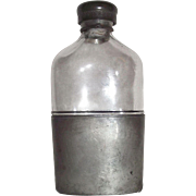 """Civil War Period Whiskey Flask marked """"OLRY & Co. * PHILADa"""" in Glass with Pewter Threads & Cap !!!"""