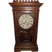 "Seth Thomas ""Garfield"" Model Weight Driven 8  Day Time & Strike Shelf Clock, with Pristine Black Walnut Case circa 1880 !"