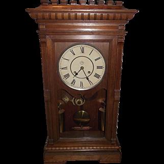 "Seth Thomas ""Garfield"" Model Weight Driven 8  Day Time & Strike Shelf Clock, with Pristine Black Walnut Case circa 1880 !"