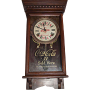 "Rare ""Coca Cola"" Salesman Sample Size Advertiser Clock marked with the early 5 Cents on the Dial & Glass Tablet !!! Circa 1920-1940."