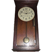 "Marked ""Pennsylvania Railroad"" Weight Driven ""Waltham Model No. 35"" Regulator Clock in Original Solid Oak Case Circa 1910 !!!"