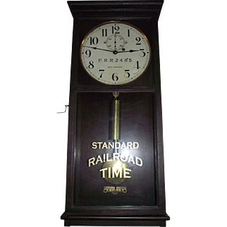 "Marked Pennsylvania Railroad ""P.R.R. 2485"" Weight Driven Seth Thomas Short-Case No. 4 Model Regulator in Original Solid Mahogany Case Circa 1920's !!!"