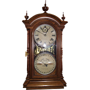 """Fashion Model No.4"" Calendar Clock marked ""Southern Calendar Clock Co."" with Solid Walnut Case made by Seth Thomas Circa 1877 !!!"