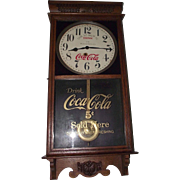 "Combination Advertiser ""Coca-Cola & Woolworth's"" Store  Clock Circa 1920's !!!"