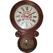 """Coca-Cola Advertiser Clock from Marion,SC. Bottling Works made by the """"E. Ingraham Clock Co."""" !!!"""