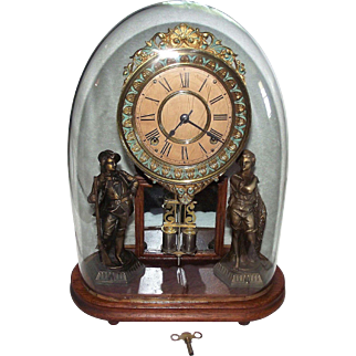 """Ansonia """"Crystal Palace No.2"""" with an Original Glass Dome !!!"""