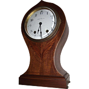 "Seth Thomas ""SAVOY"" Art Nouveau Model Clock with Fabulous Wood inlay Circa 1909 !!!"
