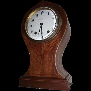 "Seth Thomas ""SAVOY"" Art Nouveau Model Clock with Fabulous Wood inlay Circa 1909 !!!"