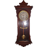 "Marked ""Sembrich"" Model Wall Regulator with Calendar Day of Month, made by ""E. N. Welch Clock Mfg. Co."" circa 1890 !!!"