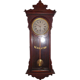 """Marked """"Sembrich"""" Model Wall Regulator with Calendar Day of Month, made by """"E. N. Welch Clock Mfg. Co."""" circa 1890 !!!"""