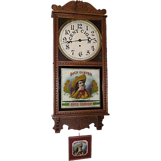 """""""Dick Custer"""" Cigar Store Advertising Clock made by  Circa 1910's to 1920's !!!"""